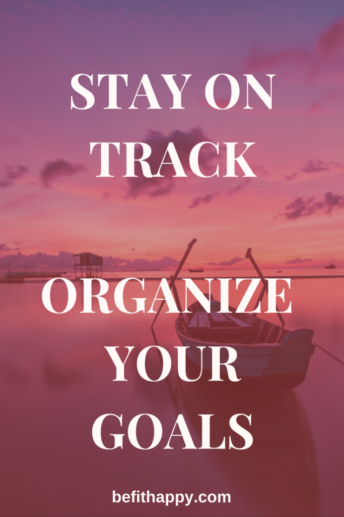 Stay n track organize your goals