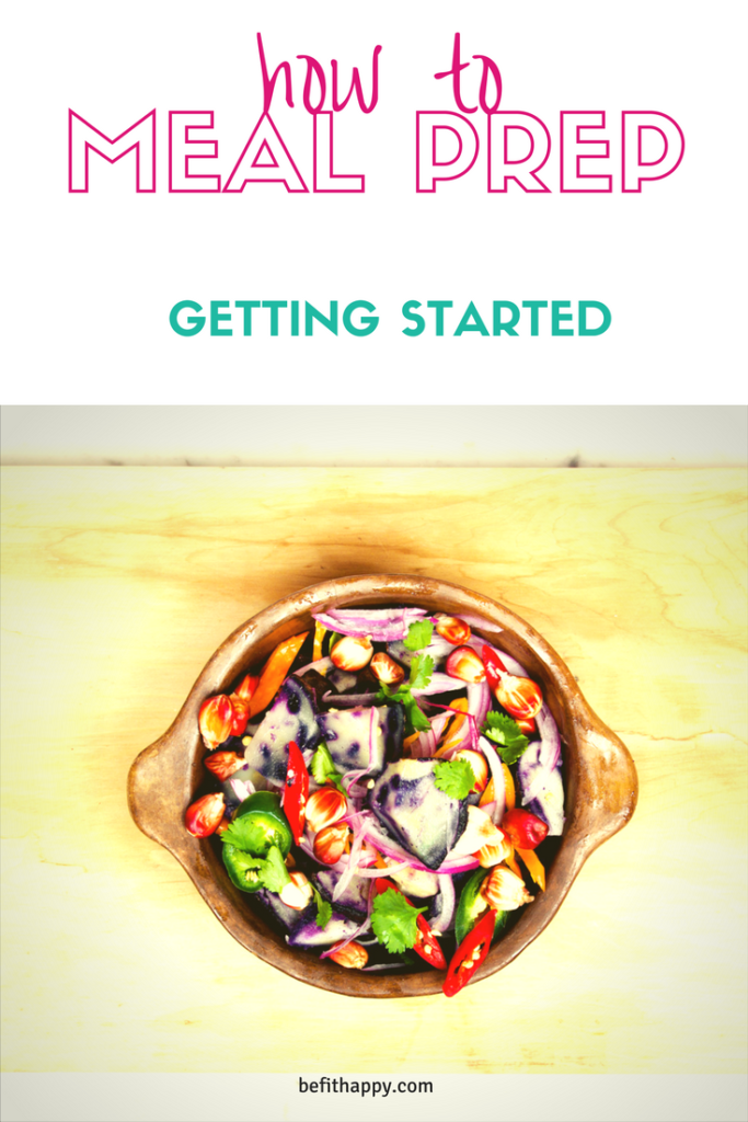 How to meal Prep - Getting Started